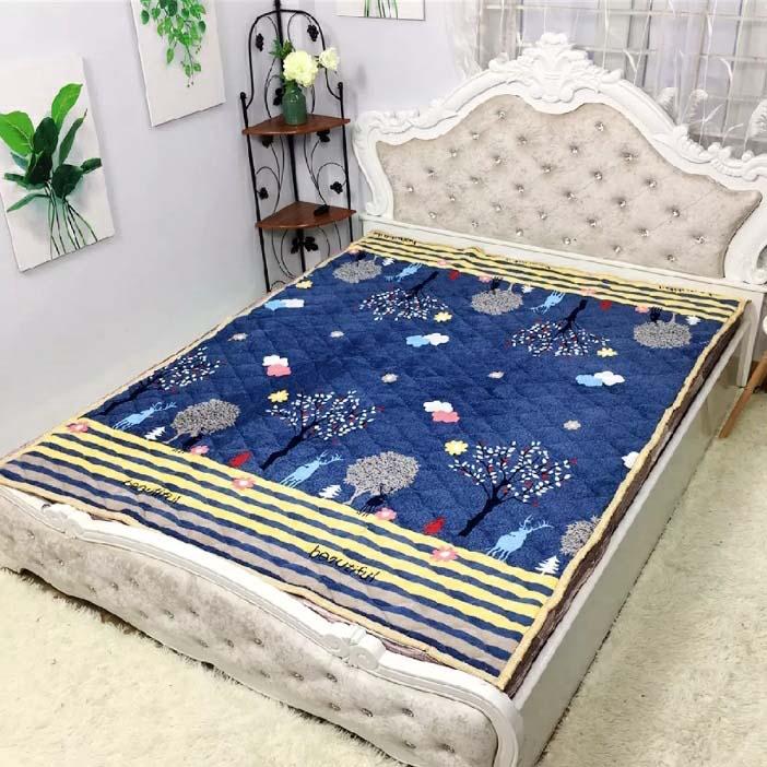 Thảm nỉ nhung trải giường, trải sàn 3 lớp (được chọn mẫu)