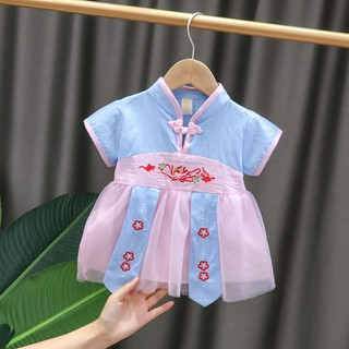 Váy đầm công chúa Hàn Quốc dễ thương cho bé gái, Váy Hanbok Hàn Quốc cho bé từ 5-12kg