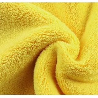 Khăn lau xe hơi, ô tô 2 lớp màu vàng cao cấp siêu sạch siêu thấm hút -Qcar Store 5