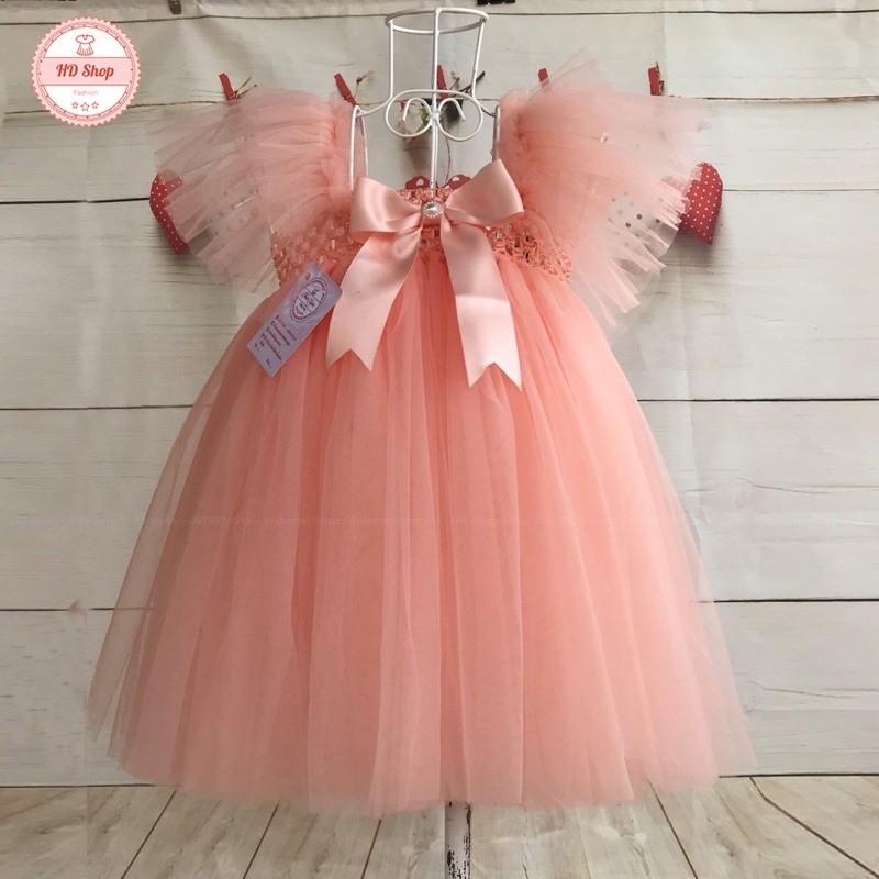Váy công chúa hồng cam