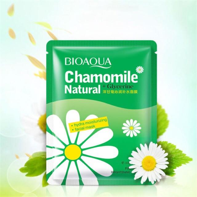 Mặt nạ Hoa Cúc Chamomile Bioaqua Cấp ẩm Giảm nhờn se khít lỗ chân lông