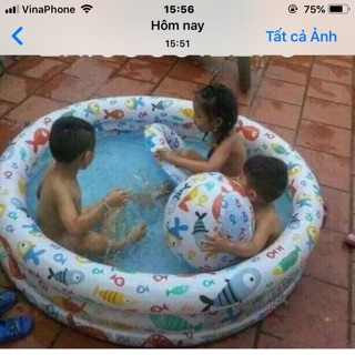 Bộ Bơi 3IN1 Cho Bé INTEX (PHAO + BỂ + BANH)