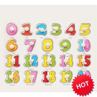 [SHIP THẦN TỐC] – Bảng ghép hình bằng gỗ bảng số đếm 0-20 cho bé yêu