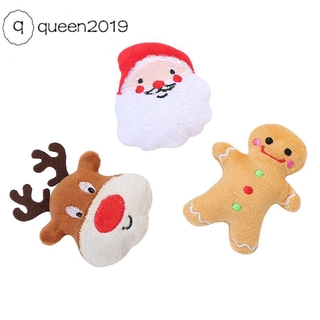 Pet Supplies Cat Self-excited Toy Stuffed Cotton Puppet Christmas Set Cat Toys [queen]