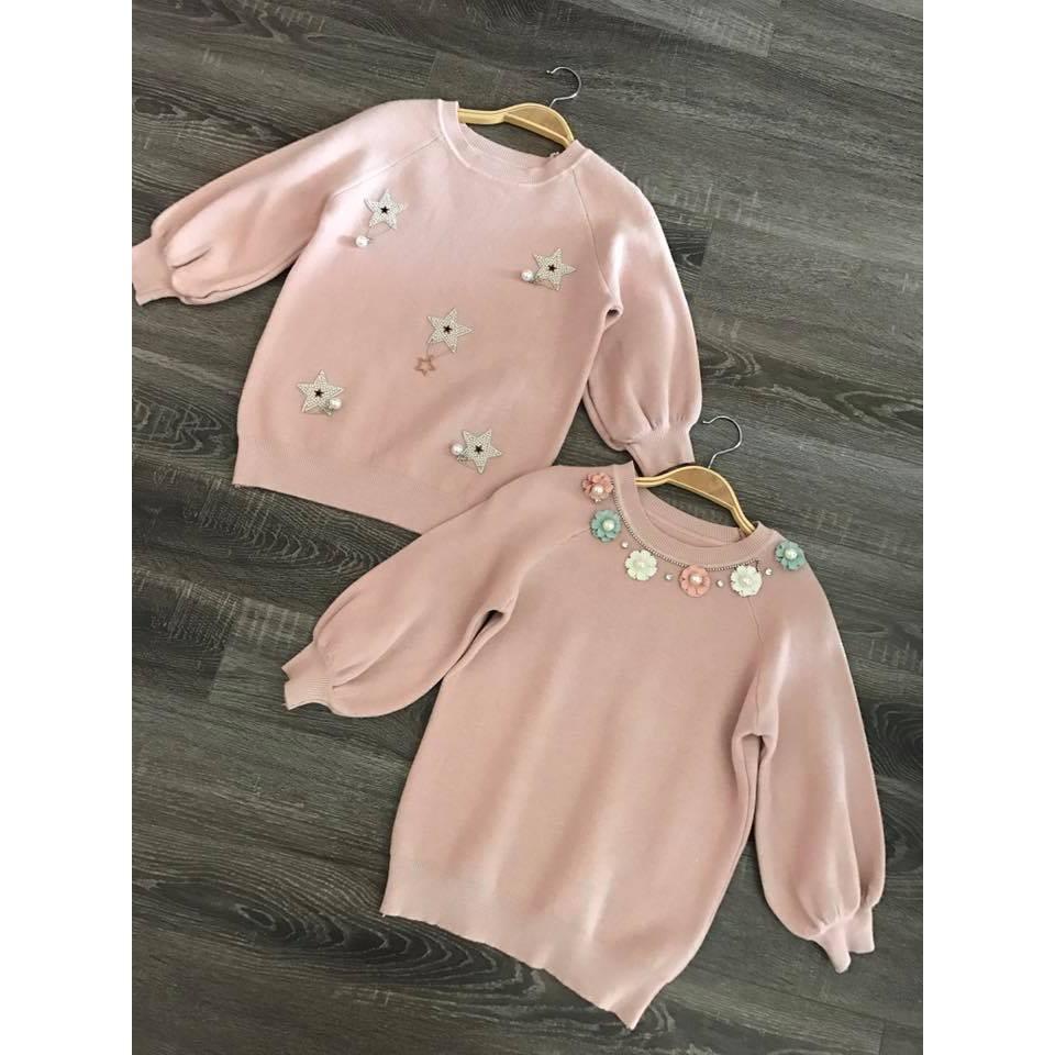Áo len hồng pastel dễ thương