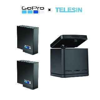 Pin chính hãng FPT Gopro 5 6 7 8 chân đen và Sạc 3 pin Telesin - Gopro x Telesin thumbnail