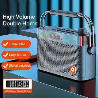 B123 bluetooth 5.0 Speaker Karaoke Custom Dual Alarm Clock Multiple Play Modes with FM Function 360° Surround Stereo Sound 4200mAh Battry Life