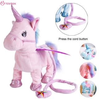 Baby toys Electric Unicorn Plush Toy Soft Stuffed Animal Doll Sing the Song for Baby