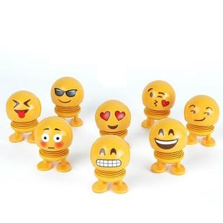 Thú nhún emoji lò xo ô tô biểu cảm 8 gương mặt-mẫu ngẫu nhiên FPG503