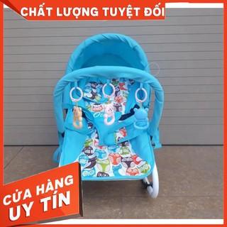 [Siêu sale] [SIÊU SALE] Ghế rung Cao cấp cho bé (Có bảo hiểm + đồ chơi + mái che + điều chỉnh nằm ngồi)