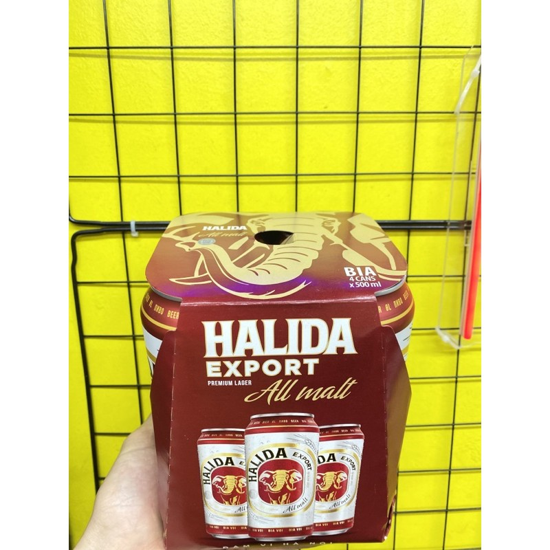 Bia HALIDA Export lon 500ml