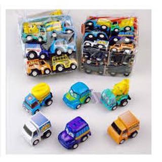 [HOT SALE] đồ chơi cho bé – BỘ 6 ô tô đồ chơi tý hon cho bé