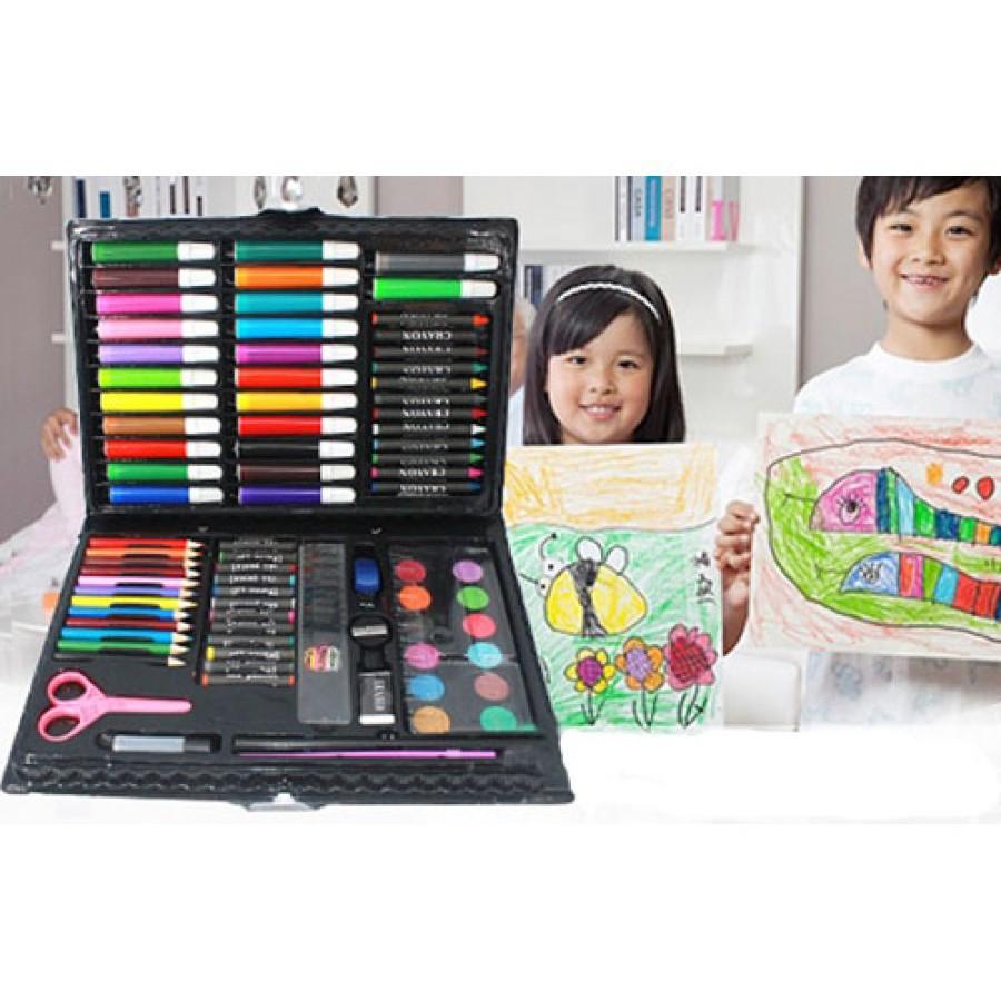 #siêu rẻ# Set 2 bộ màu vẽ 86 chi tiết cho bé thỏa sức sáng tạo hàng đẹp