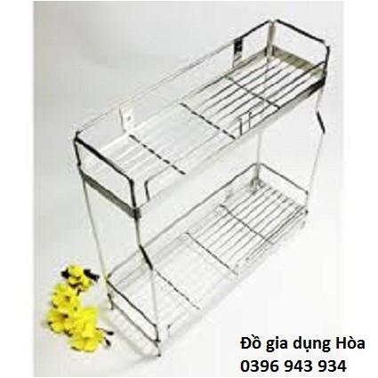 kệ phòng tắm/ kệ gia vị inox 304 2 tầng 40cm
