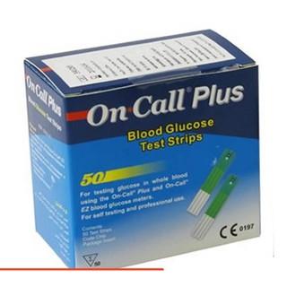 [Date xa] Hộp 50 que thử On Call Plus,hộp 2 lọ 25