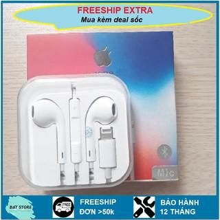 Tai nghe IP 7/8/X/ 6 7 8 Plus/ X/Xs/Xs Max/ 11 Pro Max/12 có mic đàm thoại tự động bắt bluetooth bảo hành 12 tháng