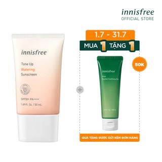 [ƯU ĐÃI 1-31.7] Kem chống nắng nâng tông innisfree Tone Up Watering Sunscreen SPF 50+ PA++++ 50ml thumbnail