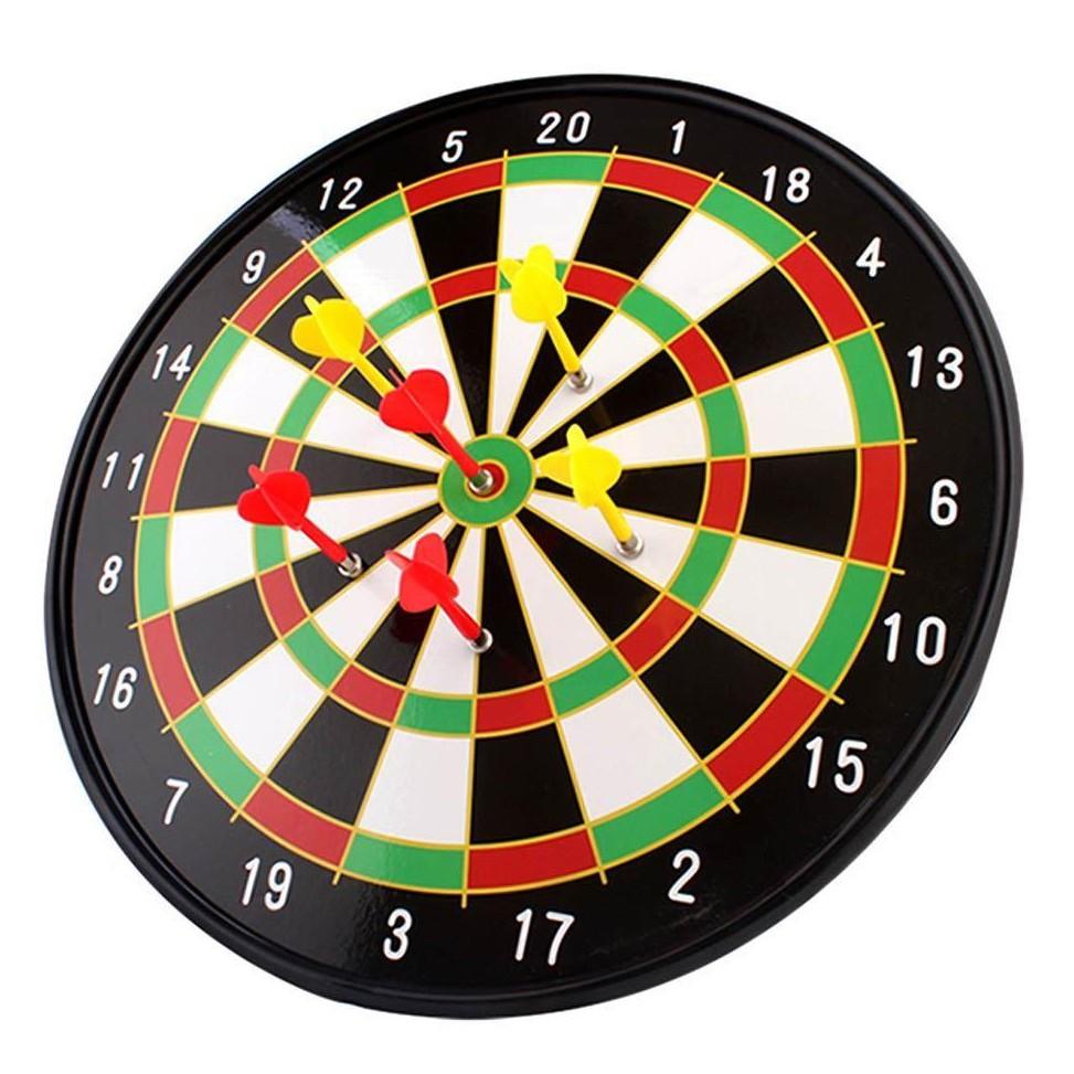 Đồ chơi phóng phi tiêu nam châm dạng bảng tròn cứng, đường kính 36cm (15 inches), phù hợp cho cả...