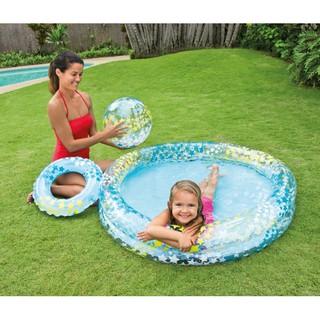 Bể bơi ngôi sao có bóng và vòng bơi – ĐHS 5497