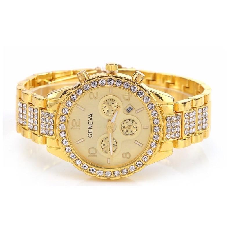 Đồng hồ nam nữ GENEVA đính đá cực sang trọng