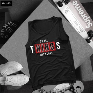 Áo Tank top thể thao HTFashion in hình do all things with love 2