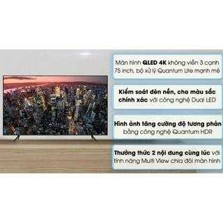 Smart tivi QLED Samsung 4K 75inch QA75Q60T