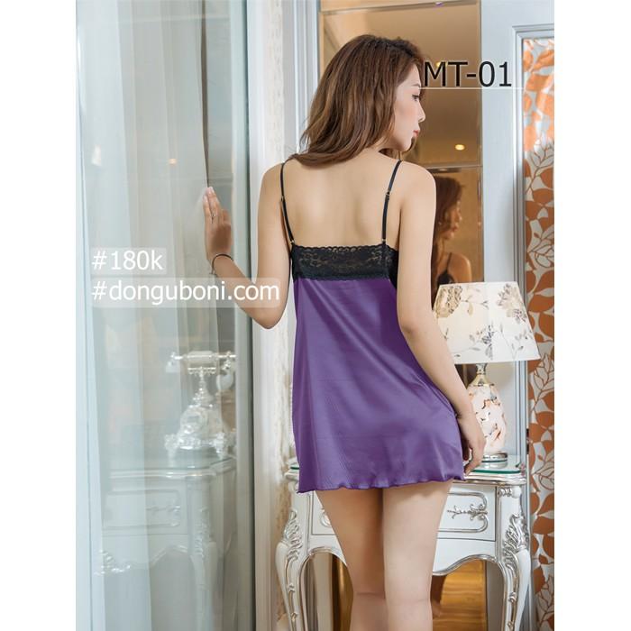 Váy Ngủ Nữ Mặc Nhà 2 Dây Hở Lưng