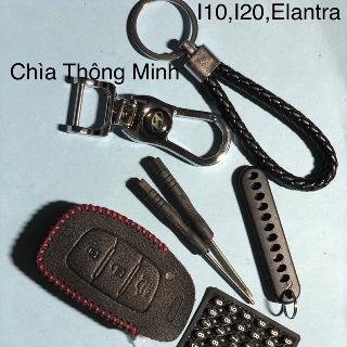 Bao da chìa khoá hyundai elantra - i10 - tucson MinhThu Auto Nội thất và các sản phẩm chăm sóc xe thumbnail