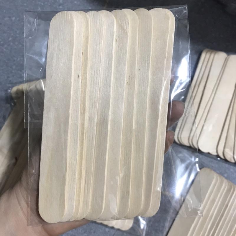 Que gạt lấy gel wax lông tẩy lông an lành que gỗ wax lông que đè lưỡi bịch gồm 10 que