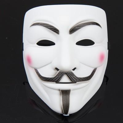 MẶT NẠ HÓA TRANG HACKER anonymous màu trắng (bán sỉ 9k)-(M21) rẻ bèo nè