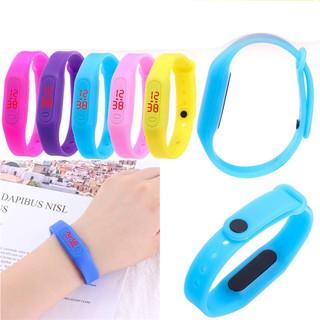 Đồng hồ led nam nữ chống nước chống xước tốt dây silicon dẻo dai thời trang trẻ thumbnail