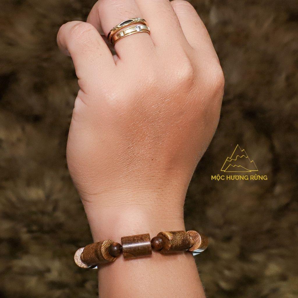 Vòng tay trầm hương đốt trúc size 10mm -12mm - cho nam và nữ_mochuongrung_888