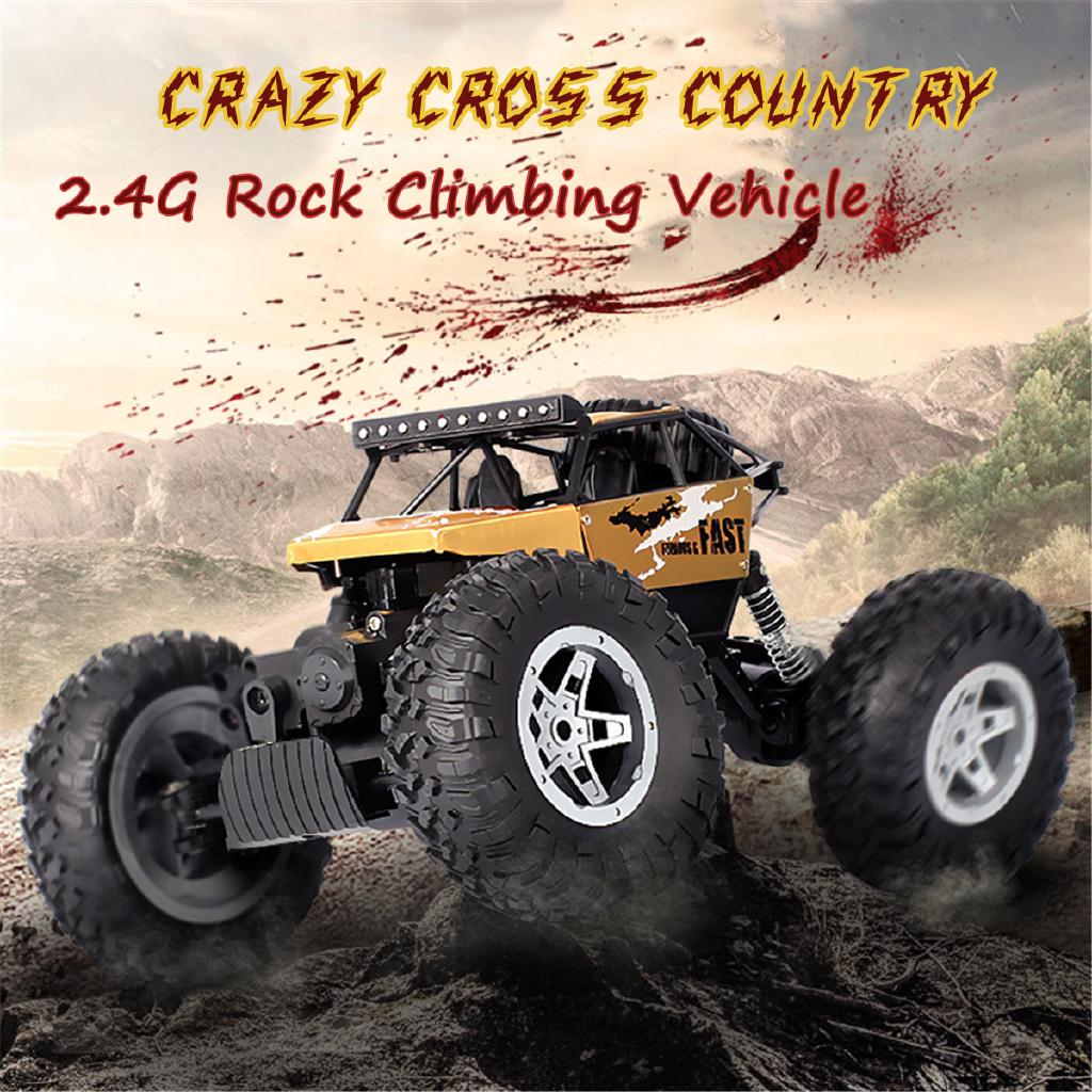  RC Truck 4WD Off-Road 1:16 Vehicle 2.4 G Remote Control Buggy Crawler Car Toy