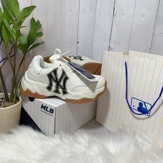 Giày thể thao hàng 1 1 NY da đẹp chữ in bền tăng chiều cao nam nữ kèm hộp - da đẹp - dây phản quang