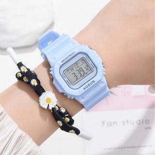Đồng hồ nam nữ Aosun điện tử thời trang đeo tay hoa cúc cực đẹp DH106 giá rẻ thumbnail