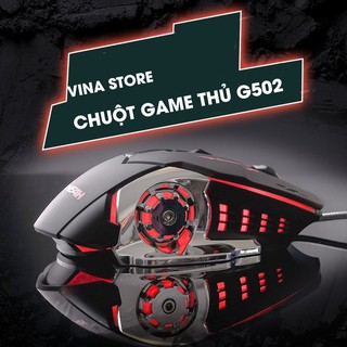 Chuột game thủ detek G502 cực bền thiết kế độc lạ có LED nhiều màu thumbnail