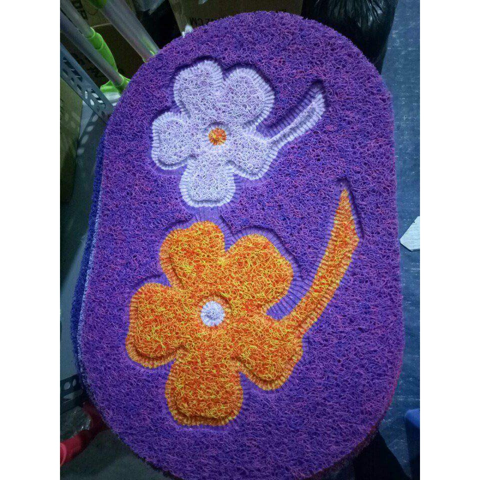 Thảm chùi chân 3d hình hoa nhiều màu sắc (ảnh thật)