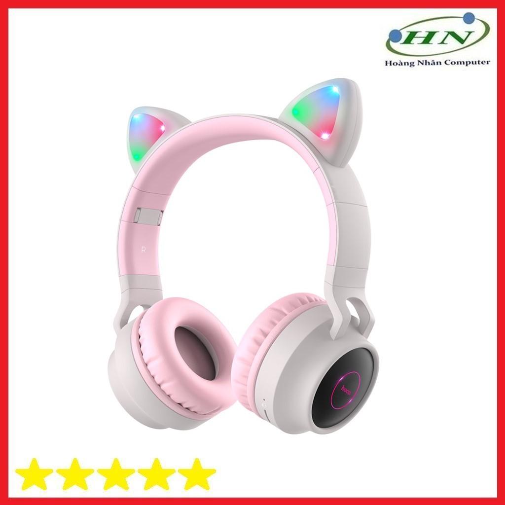 Tai Nghe Chụp Tai Kết Nối Bluetooth W27 Màu Hồng - Tai nghe Bluetooth chụp  tai Over-ear Nhà sản xuất No Brand