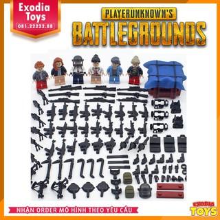 Minifigure 6 nhật vật PUBG + hộp thính nhiều vật phẩm – PlayerUnknown's Battlegrounds