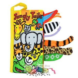 Sách vải Jolly Baby – Jungly Tails (Đoán đuôi con vật – đuôi động vật rừng)