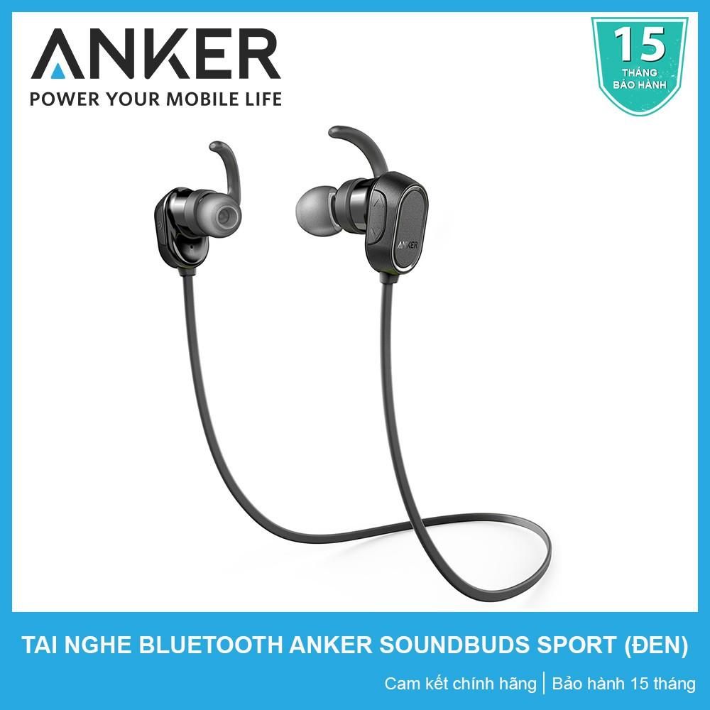 [CHÍNH HÃNG] Tai Nghe Bluetooth Anker SoundBuds Sport A3233 (Đen) - BẢO HÀNH 15 THÁNG