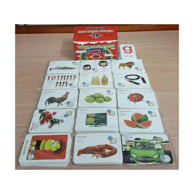 Bộ thẻ 16 chủ đề gồm 416 c thẻ ( kèm hình ảnh)