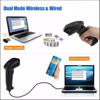 Máy quét mã vạch không dây YHD-8200W 1D, Đầu đọc Laser kết nối 2.4G/ USB tiện dụng cho hệ thống Cửa hàng, Siêu thị