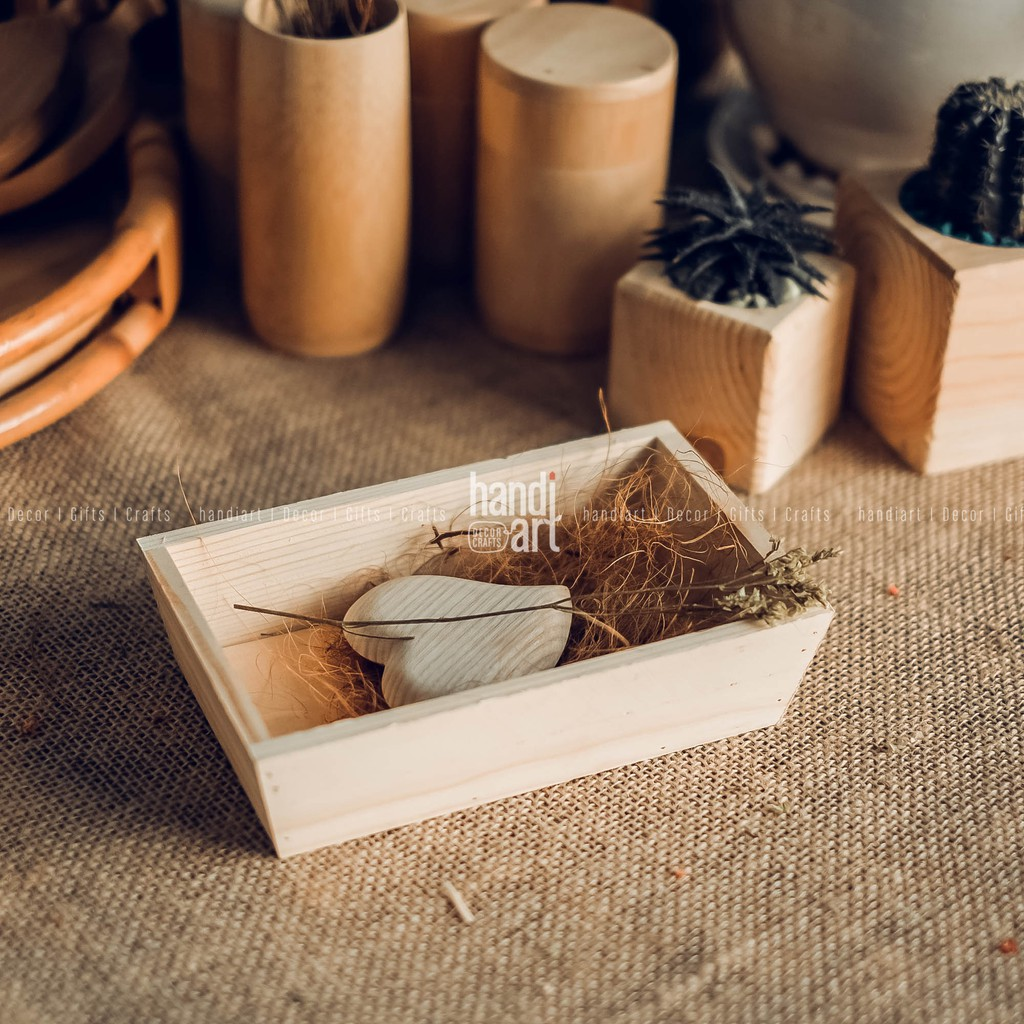 Hộp gỗ đựng đồ ăn - Hộp gỗ đựng sản phẩm - wooden food tray