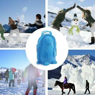 3D Penguin Snow Fight Random Color Games Portable Beach Funny Kids Sand Mold Winter Outdoor Snowball Maker