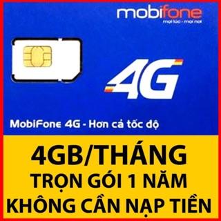 Sim Data 3G/4G Mobi MDT250A – 4Gg/ Tháng không mất phí gia hạn