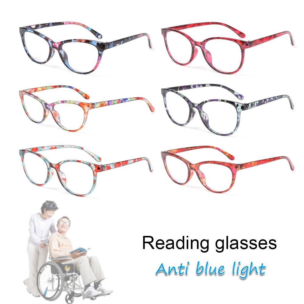 🌵CACTU🌵 Women Anti-blue Light Glasses Classic Printing Presbyopia Eyeglasses Optical Eyewear Vision Care Fashion Retro Vintage Computer Goggles