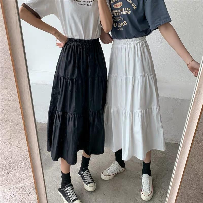 Chân Váy Nữ 🦋 Chân váy Vintage 2 lớp Siêu Xinh 2 màu 🦋