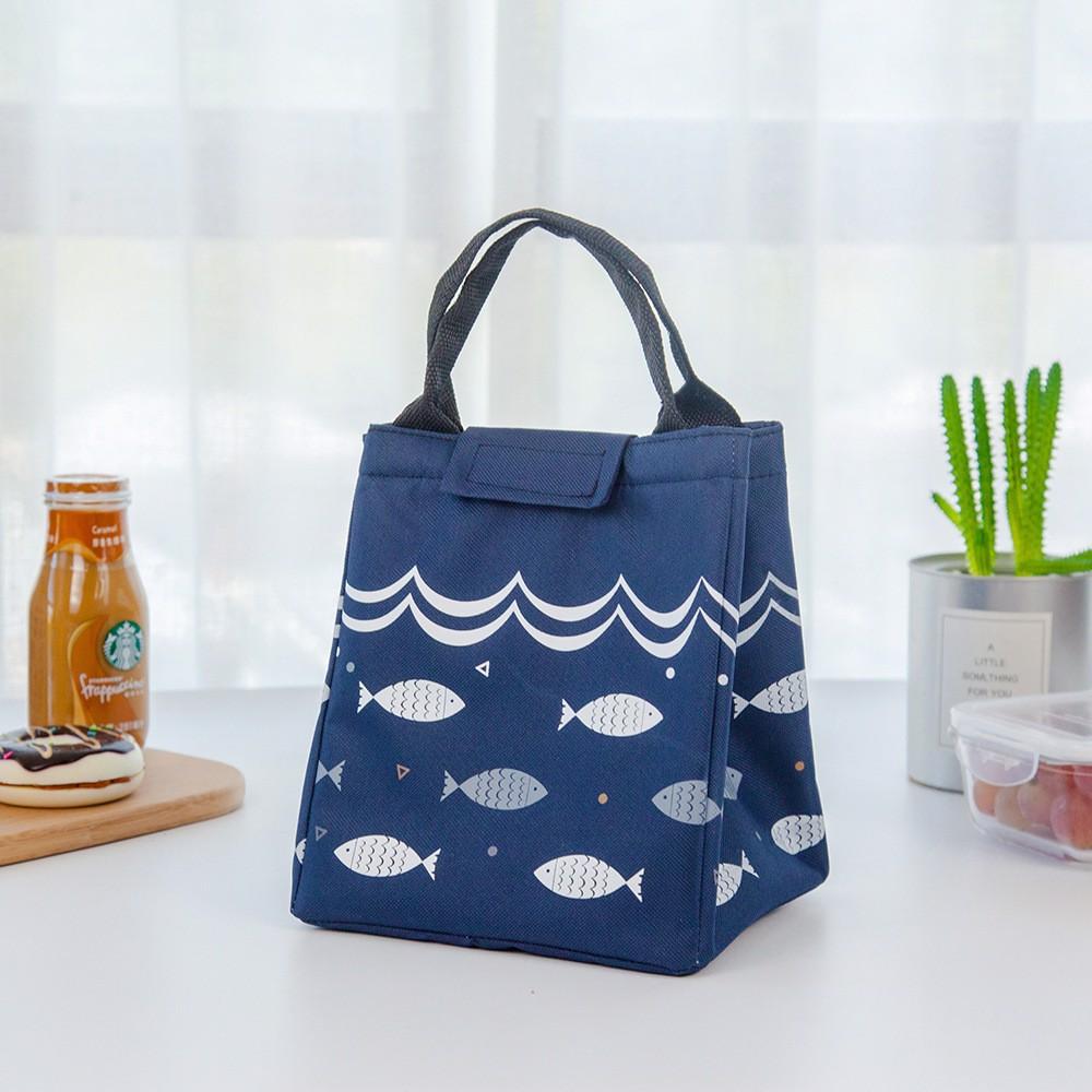 Túi đựng hộp cơm giữ nhiệt cao cấp hình cá 2020