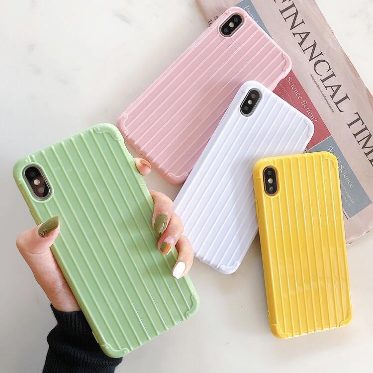 Ốp silicon vali trơn một màu dành cho dòng máy của Iphone